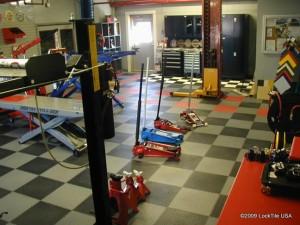 PVC garage floor tiles