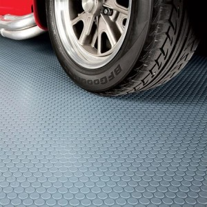 G-Floor Coin Garage Floor Mats Shown in Gray